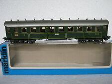 Märklin HO 4135 Abteilwagen 3 Kl KBaySts + Licht + Personen (RG/CJ/019-14R2/11)