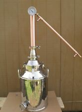 8 Gal Moonshine Still with Copper Whiskey Column & Electric Heat Controller