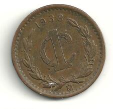 A VERY NICELY DETAILED HIGH GRADE 1938 MEXICAN 1 CENTAVO COIN