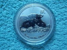 2008 Australian Silver Lunar II Mouse 1 OZ BU