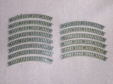 14 Vintage (early) Hornby Dublo / Meccano 3 Rail Curve Track Sections Power Feed