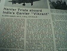 1974 article harrier jump jet trials john farley vikrant