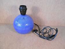 Pied de lampe Vienne bleu Royal Boch