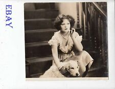 Clara Bow w/dog Hula VINTAGE Photo
