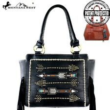 Montana West Arrows Fringe Collection Concealed Handgun Tote Handbag