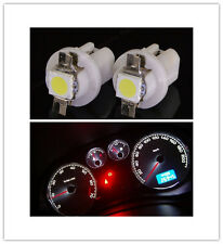 2pcs T5 5050 Auto Warning Speedo Dashboard Side Light Bulbs White 8.5D LED X58