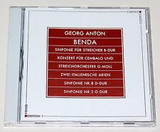 GEORG ANTON BENDA - EDITION 1 KONZERTE SINFONIE ITALIENISCHE ARIEN CD NEUWERTIG