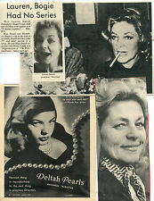 Lauren Bacall Clipping lot Magazine Photo original R6613