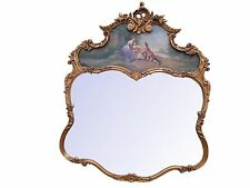 Mid Century French Trumeau French Paris Apartment Gold Gilt Carved Mirror