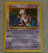 Mewtwo 10/102 Shadowless Base Basic Set  Ultra Rare Star Holo Foil Pokemon Card