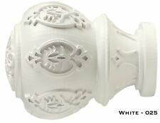 """White Lacey Finials - Kirsch Wood Trends - 1 3/8""""!! FREE SHIPPING!!"""
