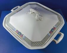 J&G Meakin Covered and Handled Square Serving Bowl England