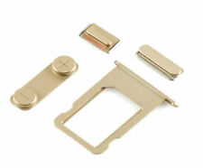 Iphone 5G 5S SE 4 in 1 External Set Sim Tray Volume Power Key Mute Button Gold