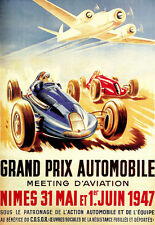 Art Poster - Grand Prix - 1947 - French Deco Advert  A3 Print