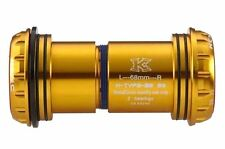 gobike88 KCNC BB30 BB30A Adaptor for 68/73mm Shell and 24mm Crankset, Gold, K40