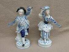 PAIR OF ANTIQUE CONTINENTAL DRESDEN BY AUGUSTUS REX PORCELAIN FIGURINES