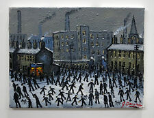 NORTHERN ARTIST JAMES DOWNIE ORIGINAL OIL PAINTING 'MILL TOWN' MANCHESTER
