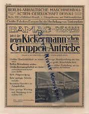 DESSAU, Prospekt 1910, Berlin-Anhaltische Maschinenbau AG Bamag-Meguin
