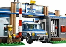 Lego Police Station City Rescue Car Edible Cake Topper Frosting 1/4 Sheet Bir...
