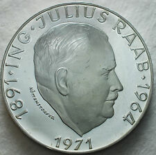 1971  Austria   50 schilling Proof  Julius Raab