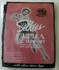 Silkies Pantyhose Ultra TLC Support   Queen X-Large Navy Blue NIP