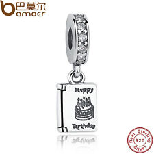 New Authentic S925 Sterling Silver Charm Birthday Wishes, Clear CZ Fit Bracelet