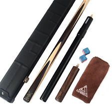 "NEW 1-PIECE Snooker Cue Cuesoul 18 oz  57"" and AL telescopic Extension&CASE"