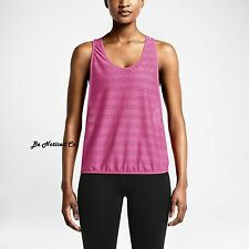 Nike 2-in-1 Women's Training Tank Top M Pink Black Gym Casual Running Yoga New