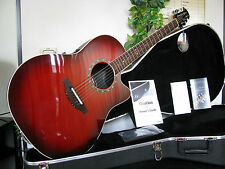 OVATION BALLADEER STD NEW MODEL CONTOURED BODY CHERRY RED''