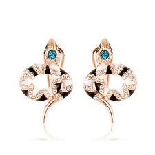 Fashion Jewelry - 18K Rose Gold Plated Snake Post Earrings (FE245)