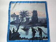 """vintage Jacqmar unique fishermen silk scarf 29"""""""