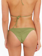Frankie's Bikinis Camo Green Ruched Bikini Cheeky Bottoms Briefs Xs L 6 12