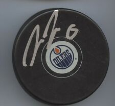 TREVOR DALEY SIGNED EDMONTON OILERS HOCKEY PUCK w/ COA