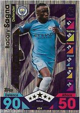 2016 / 2017 EPL Match Attax Man of the Match (424) Bacany SAGNA Man. City