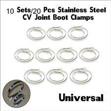 10Sets CV Joint Boot Clips/Clamps Stainless Steel Universal Set Driveshaft Gator
