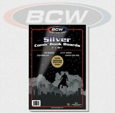 BCW - 100 Silver Comic Book Backing Boards 24 PT. NEU! OVP!
