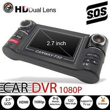 1080 HD Dual Lens Car Camera Vehicle DVR Dash Video Recorder Night Vision SOS SS
