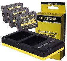 3x AKKU Battery Pack NP-W126 + Doppel-DUAL Ladegerät für FUJI Fujifilm NP-W126s