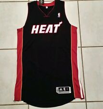 NWT ADIDAS  Miami Heat Away (Black) Authentic Blank NBA Jersey  Mens Large  Tall