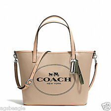 Coach Bag F32482 Metro Horse and Carriage Small Tote Light Khaki Agsbeagle COD