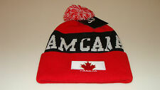 Team Canada 2014 Winter Olympics Sochi Hockey Red Pom Toque Beanie Hat Cap Youth