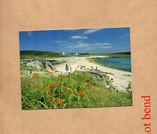 Isles of Scilly sandbar between St Agnes and Gugh 1980s card unposted  bx