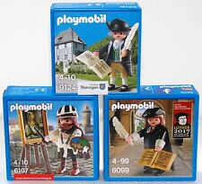 Goethe + Luther + Dürer PLAYMOBIL Exclusiv Edition 9124 + 6099 + 6107 OVP NUOVO!
