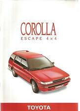 Catalogue brochure Katalog Prospekt GAMME TOYOTA COROLLA ESCAPE 1988 14 PAGES
