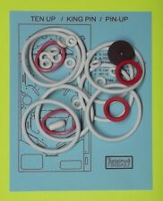 Gottlieb Ten Up / King Pin / Pin Up pinball rubber ring kit