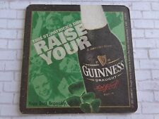 Beer Coaster: Guinness Draught ~ St. Patrick's Day Raise Yours ~ Ireland Brewery
