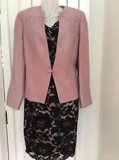 NWT- Gorgeous Jacques Vert Black Lace Dress & Pink Jacket,10, Wedding,Occasion