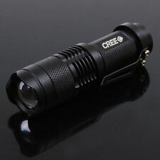 7W CREE Q5 LED 600lm Mini ZOOMABLE Flashlight Torch 14500/AA NEW Black