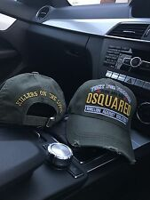 "DSquared Cap - ""FIGHT FOR FREEDOM"" - Khaki Hat"