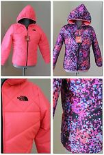 NEW The North Face Girls L 14 16 Reversible Puffer Hood Jacket WINTER NEON PINK